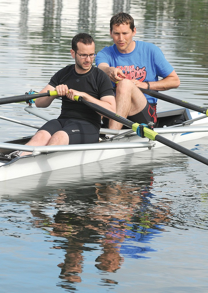 Kyle Slavin, coached by Olympic rower Dave Calder in the Selkirk Waterway.