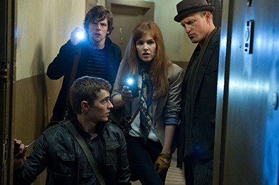 The cast of Now You See Me, opening in Victoria area theatres this week