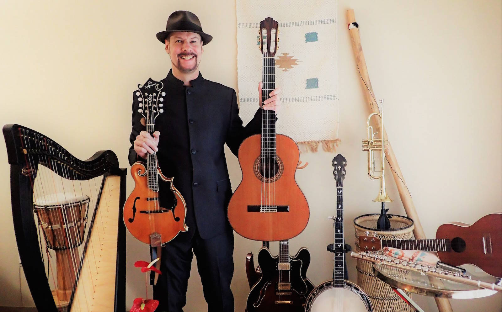 Larry McQuarrie (a.k.a. Mr. Versatility) with just a few of his instruments. (Provided)