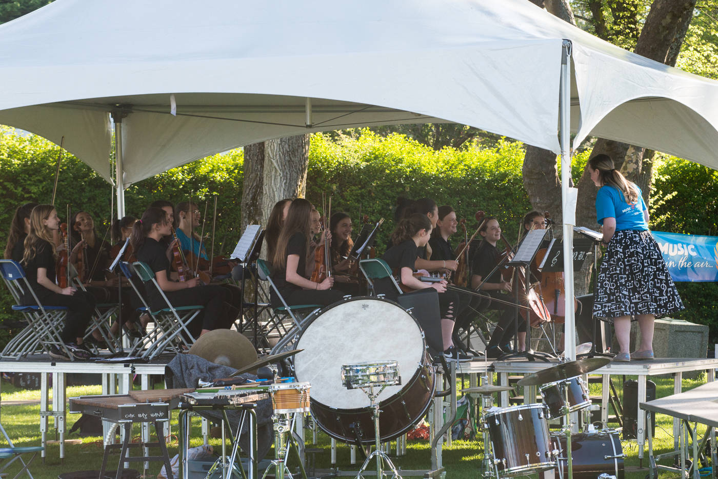 Monterey String Band at Willows Beach for Music in the Air, Music Everywhere. (Keri Coles/Oak Bay News)