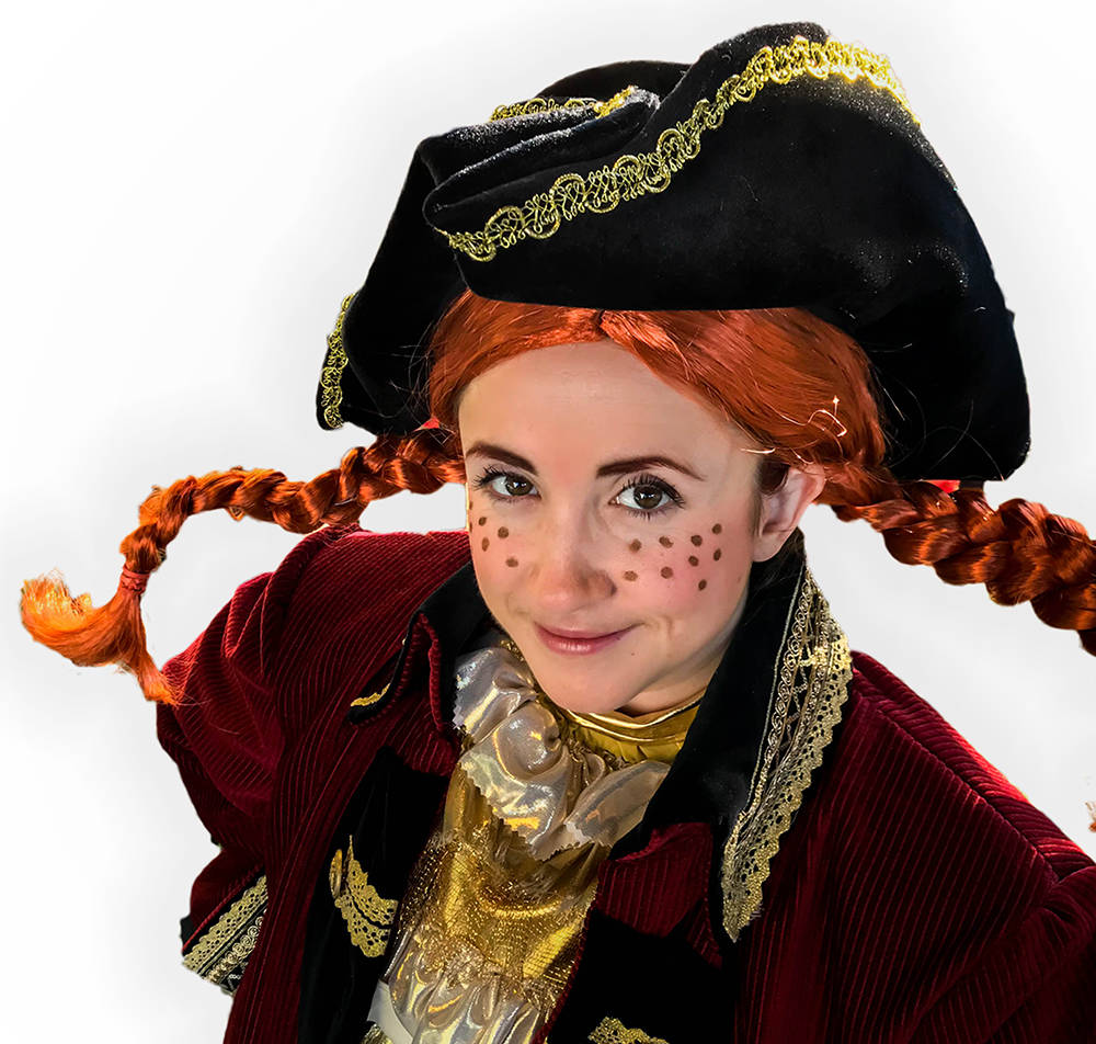 Tich Wilson as Pippi Longstocking, the title character in Kaleidoscope Theatre for Young People's latest production, running Dec. 28-30 at the McPherson Playhouse. Courtesy Kaleidoscope Theatre