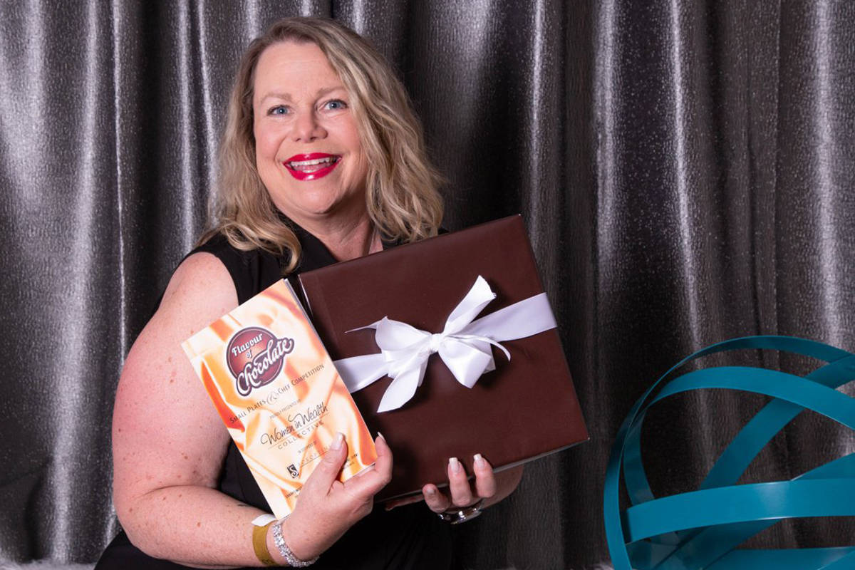 Gina Savard was all smiles at last year's Flavour of Chocolate fundraiser event put on by Soroptmist International of Victoria Westshore. This year's event happens April 6 in the Elements Casino Platinum Room. Facebook