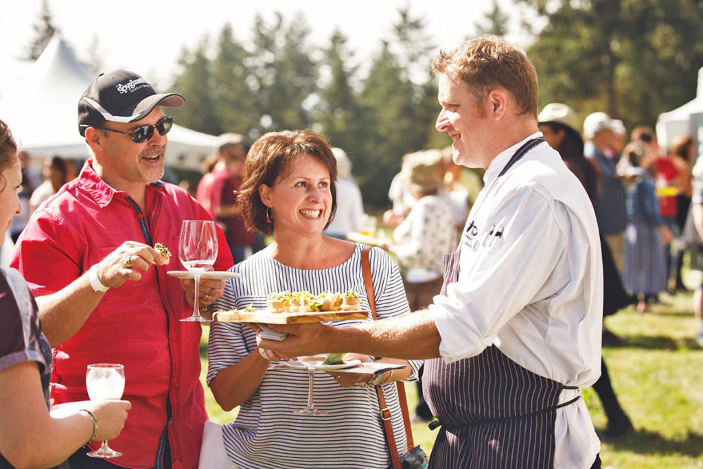 Feast of Fields offers chef-created small plate food items made with fresh local ingredients. FarmFolkCityFolk/Facebook