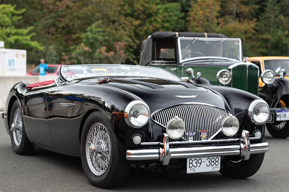 Trevor Parker's 1955 Austin-Healey 100 BN2 won for Best British entry at last year's show and shine. Photos courtesy GAIN Group