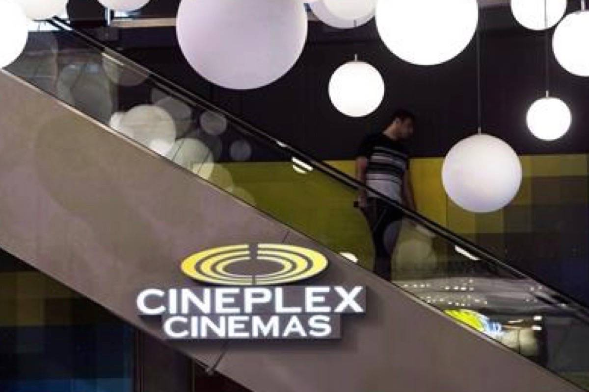Cineworld Group PLC has agreed to buy Cineplex Inc., in a Dec. 16, 2019 story. (Photo by THE CANADIAN PRESS)