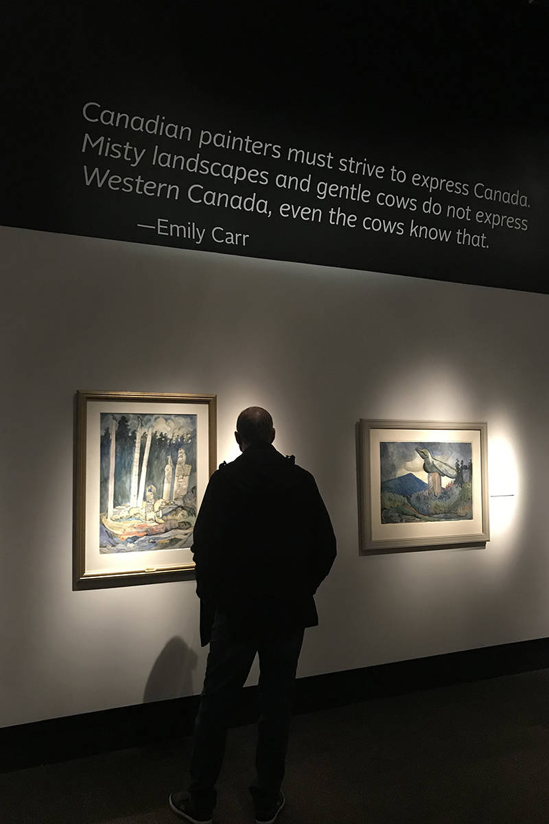 Fresh Seeings, the new Emily Carr exhibit at the Royal BC Museum, is the largest collection of Carr's work all together at one time. (Kendra Crighton/News Staff)