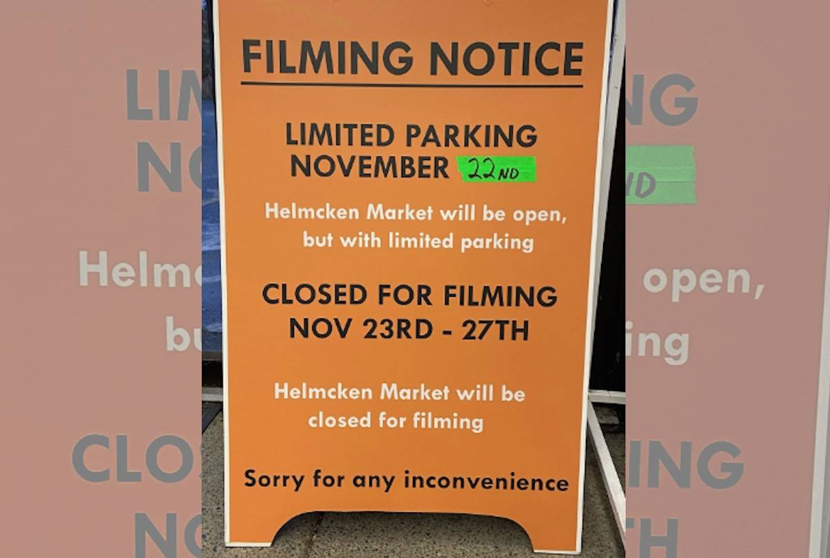 A View Royal grocery store will be closed for five days in November due to shooting for Maid, a Netflix series being filmed across Greater Victoria. (Facebook/Helmcken Market)