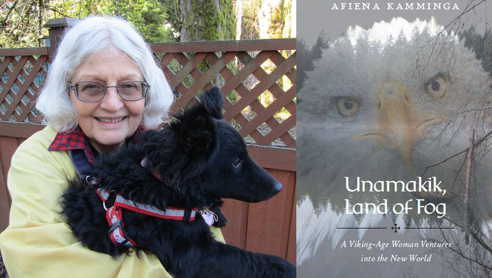 Nanaimo author Afiena Kamminga presents her latest book, 'Unamakik, Land of Fog.' (Photo courtesy Hans Larsen)