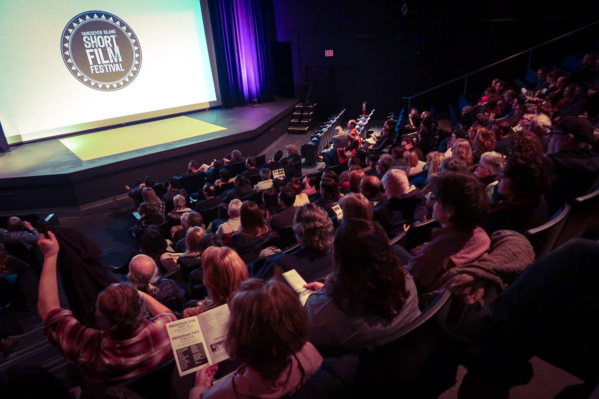 Last year the Vancouver Island Short Film Festival filled the seats at Malaspina Theatre. This year, viewers will take in the screenings online. (Photo courtesy VISFF)